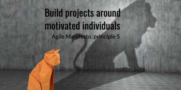 Individus motivés, Manifeste Agile, principe 5,motivated individuals, Agile Manifesto, principle 5