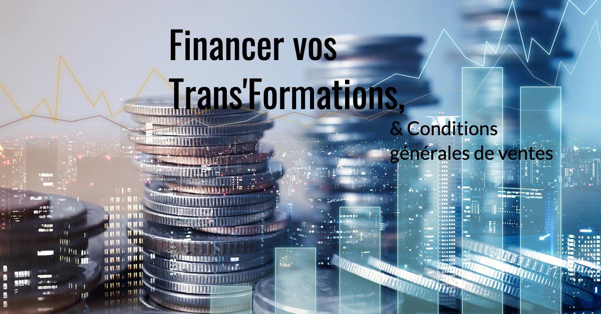 Financement, CGV, conditions générales de vente